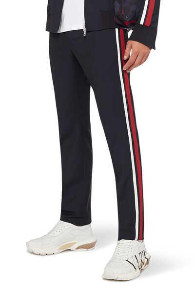 Valentino Garavani Striped Mohair Wool Pants