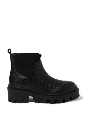 Matelassé Chelsea Boots