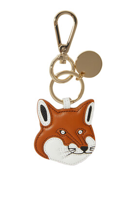 Fox Head Leather Keyring