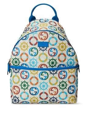 GG Sea Print Backpack