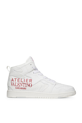 Valentino Garavani Atelier Shoes 07 Camouflage Edition Mid-Top Sneakers