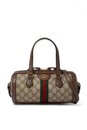 Ophidia GG Small Boston Bag