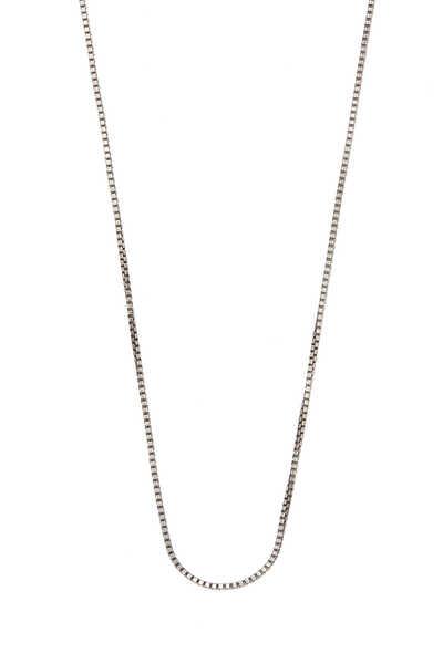 Box Chain Silver Necklace