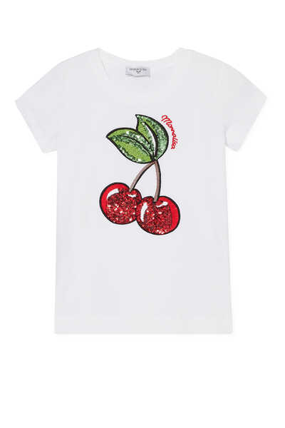 Cotton-Blend Cherry T-Shirt