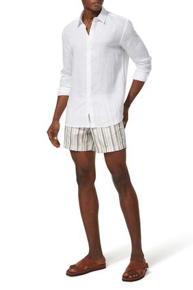 Dry Brush Stripe Swim Shorts