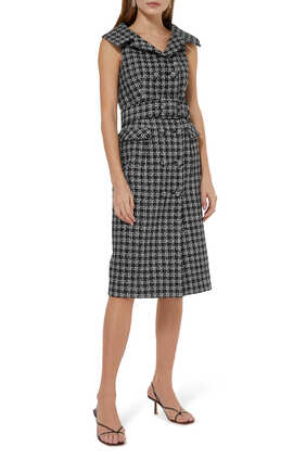 Domino Tweed Dress