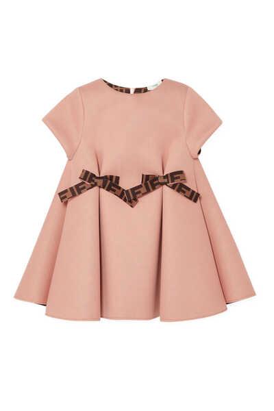 Neoprene Contrasting FF Bow Dress