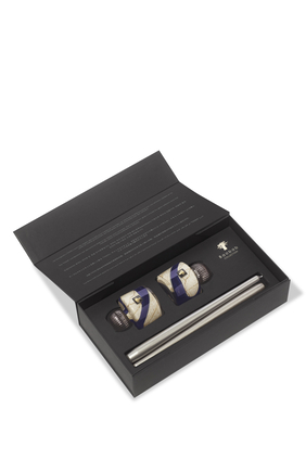 Stones Lazuli Twins Candleholders & Candlesticks Set