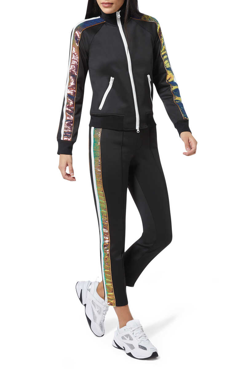 H19 Sequin Stripe Track Pants image thumbnail number 2