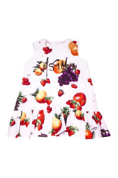 Fruits Printed Sleeveless Dress