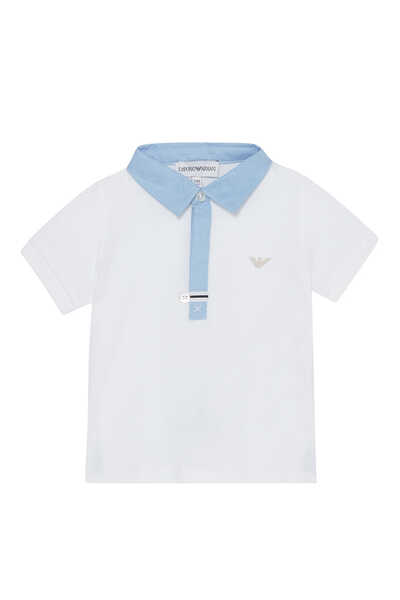 Logo Embroidered Contrast Polo Shirt