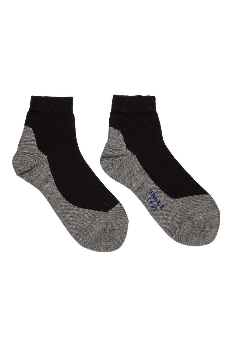 Black Active Sunny Days Kids Sneaker Socks image number 1