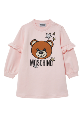 Starry Teddy Bear Fleece Dress