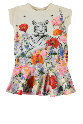 Tiger Floral Print Dress
