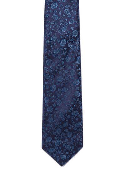 Textured Floral Print Tie