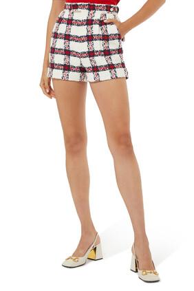 Check Tweed Shorts