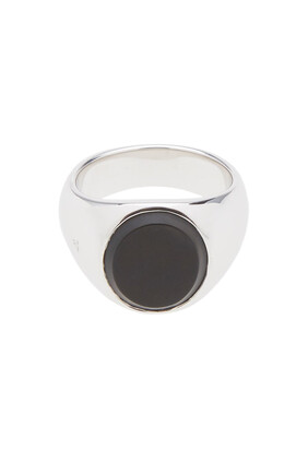 Oval Onyx Sterling SIlver Ring