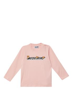 Teddy Bear Logo Print T-Shirt