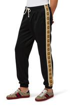 Interlocking GG Technical Jersey Jogging Pants