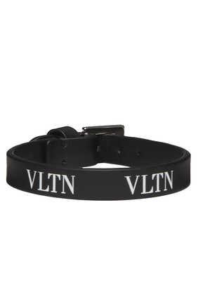 Valentino Garavani VLTN Leather Bracelet