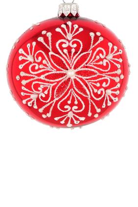 Glass Snow Flake Ornament