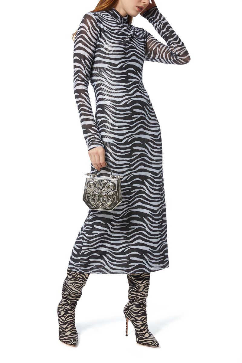Brae Zebra-Print Midi Dress image number 2