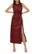 Akiko Leather Midi Dress