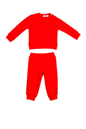 Red Cotton Track Suit