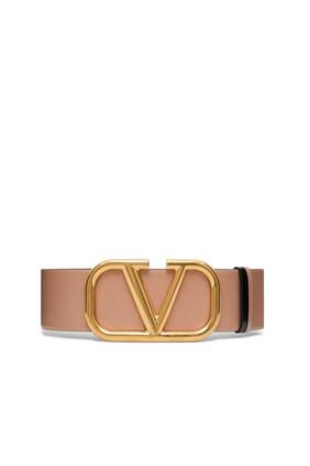 V Logo Buckle Belt