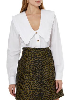 V-neck Cotton Shirt