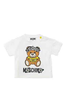 Floral Crown Teddy Bear T-Shirt