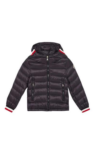 Puffer Hood French Varsity Jacket