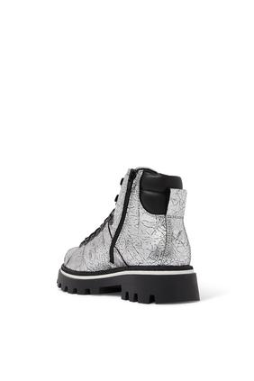 Shiny Logo Boots