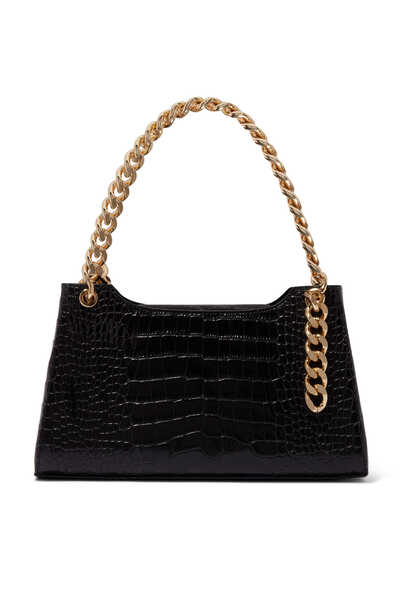 Liza Croc-Embossed Medium Bag