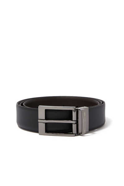 Harness Reversible Leather Belt