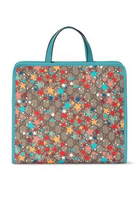 GG Star Print Tote Bag