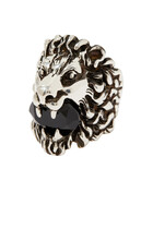 Crystal Lion Head Ring