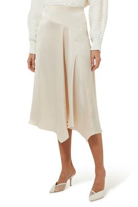 Asymmetrical Draped Skirt