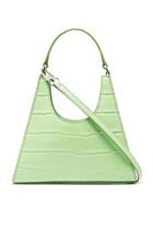 Croc-Embossed Leather Bag