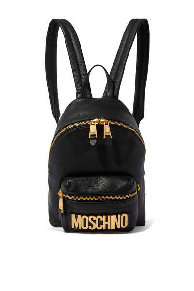 Logo Leather Backpack