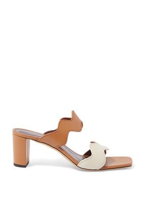Frankie Wavy Leather Sandals