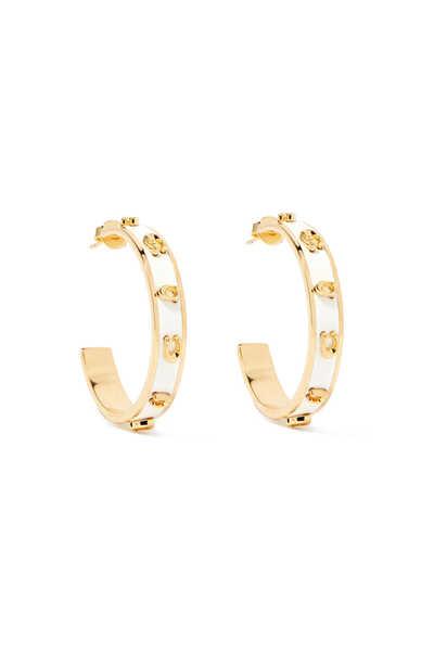 Pegged Signature Hoop Earrings