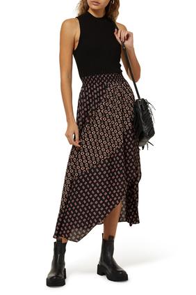 Printed Split Skirt