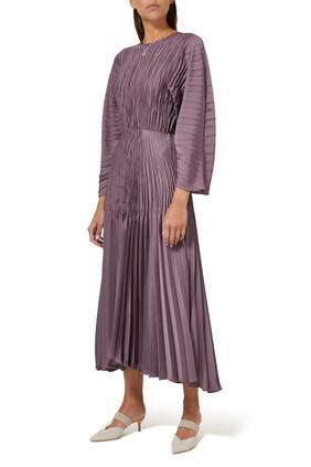 Pleated Dolman Dress
