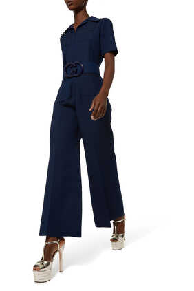 Silk Belted Jumpsuit