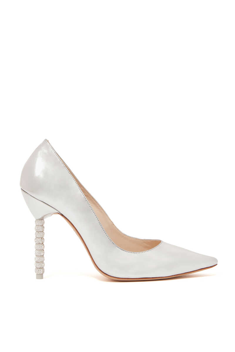 Silver Coco Crystal Pumps image number 1