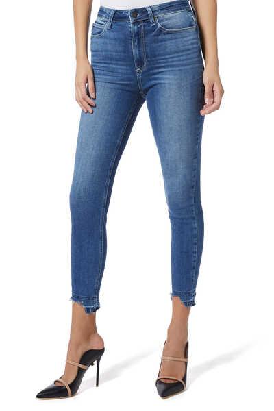 Margot Crop Ripped Denim Jeans