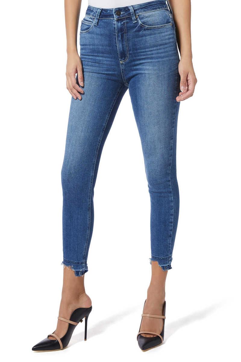Margot Crop Ripped Denim Jeans image number 1