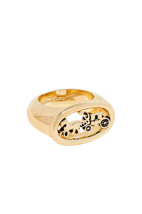 Oval Horse & Carriage Ring