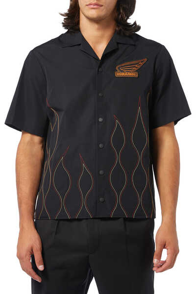 Flamed Stitched Shirt